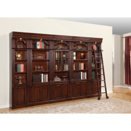 Wellington Glass Door Library Wall Unit