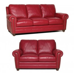 Weston Italian Leather Living Room Set