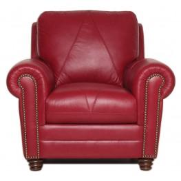 Weston Cherry Italian Leather Chair