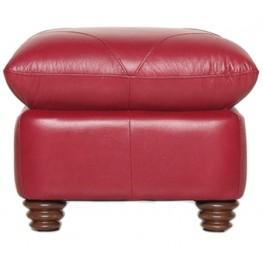 Weston Cherry Italian Leather Ottoman
