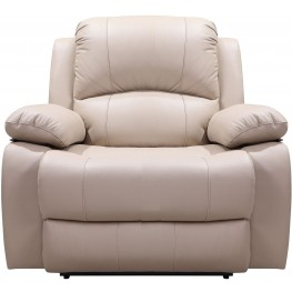 Shae Winnfield Taupe Leather Power Reclining Chair