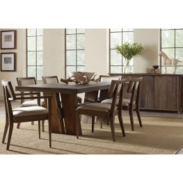 Winston Zinc Top Rectangular Dining Room Set