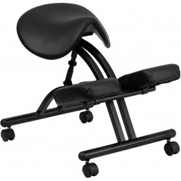 Black Saddle Seat Ergonomic Kneeling Chair (Min Order Qty Required)