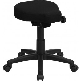Black Height and Angle Adjustable Saddle Seat Utility Stool