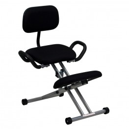 Ergonomic Kneeling Handles In Black Chair (Min Order Qty Required)
