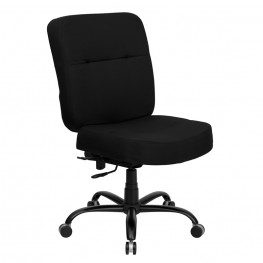 Hercules 500 Lb. Capacity Big & Tall Black Office Chair With Extra Wide Seat (Min Order Qty Required)