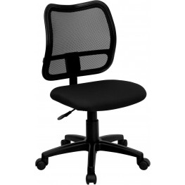 Mid-Back Task Chair With Thick Black Fabric Seat (Min Order Qty Required)