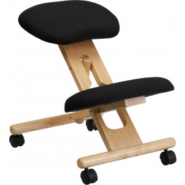 Mobile Wooden Ergonomic Kneeling Black Chair (Min Order Qty Required)