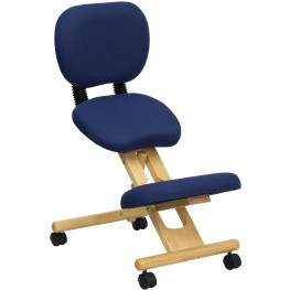 Wooden Ergonomic Kneeling Office Chair With Reclining Back (Min Order Qty Required)