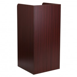 Wood Tray Top Mahogany Receptacle