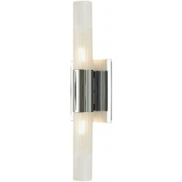 Regato Duo 2 Chrome Light Sconce With Clear And Frosted Glass