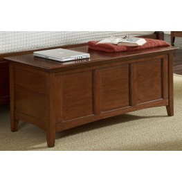 Westlake Cherry Brown Blanket Trunk