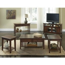 Westlake Cherry Brown Occasional Table Set