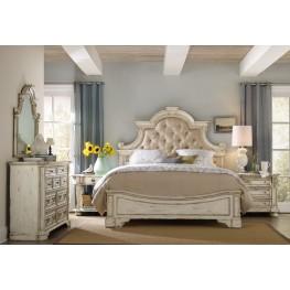 Sanctuary Beige Upholstered Panel Bedroom Set