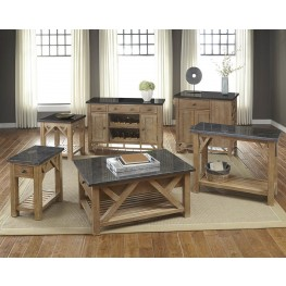 West Valley Rustic Wheat Occasional Table Set