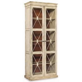 Sanctuary Cream Dune 2 Door Thin Display Cabinet