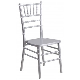 Flash Elegance Silver Wood Chiavari Chair