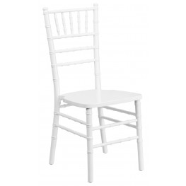 Flash Elegance White Wood Chiavari Chair