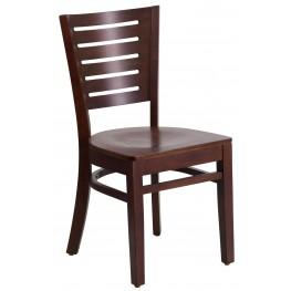 Darby Series Slat Back Walnut Wooden Restaurant Chair