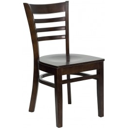 6591 Hercules Walnut Finished Ladder Back Wooden Restaurant Chair