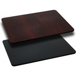 30x48 Rectangular Table Top W/ Black/Mahogany Reversible Laminate Top