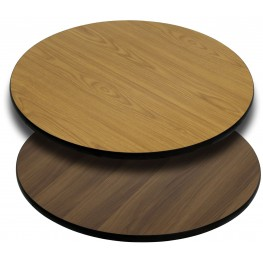 """42"""" Round Table Top with Natural or Walnut Reversible Laminate Top"""