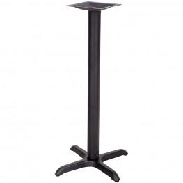22'' x 22'' Restaurant Table X-Base with 3'' Bar Height Column