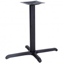 22'' x 30'' Restaurant Table X-Base with 3'' Table Height Column
