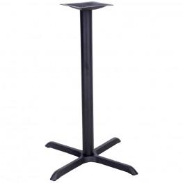 30'' x 30'' Restaurant Table X-Base with 3'' Bar Height Column