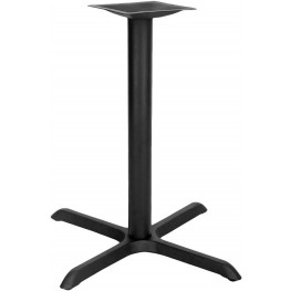 """30"""" Restaurant Table X-Base with 3"""" Diameter Table Height Column"""