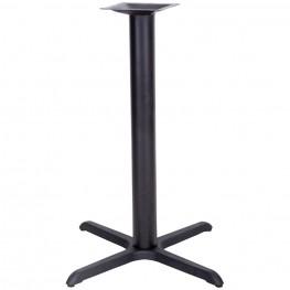 33'' x 33'' Restaurant Table X-Base with 4'' Bar Height Column