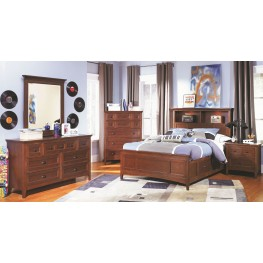 Riley Youth Dual Bookcase Storage Bedroom Set