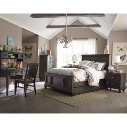 Calistoga Weathered Charcoal Youth Panel Bedroom Set