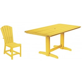 "Generations Yellow 36"" Double Pedestal Dining Room Set"