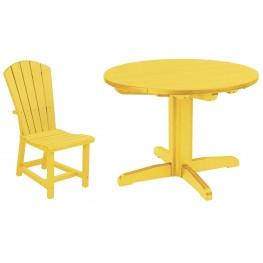 "Generations Yellow 32"" Round Pedestal Dining Room Set"