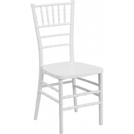 Flash Elegance White Resin Stacking Chiavari Chair