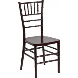 Flash Elegance Mahogany Resin Stacking Chiavari Chair