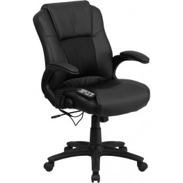 Embroidered Massaging Black Executive Swivel Chair (Min Order Qty Required)