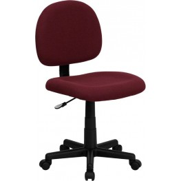 Low Back Ergonomic Burgundy Swivel Task Chair