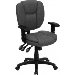 Gray Multi Functional Ergonomic Adjustable Arms Swivel Task Chair