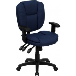 Navy Blue Upholestery Multi Functional Ergonomic Swivel Task Chair (Min Order Qty Required)