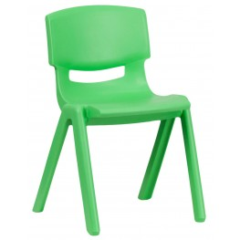 "23.25""H Green Plastic Stackable School Chair"