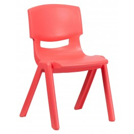 "26.75""H Red Plastic Stackable School Chair"