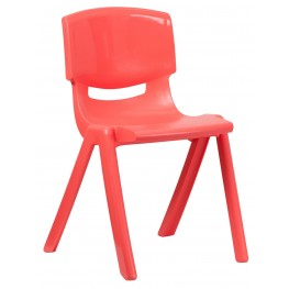 "31.5""H Red Plastic Stackable School Chair"
