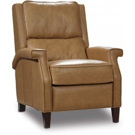 Easley Beige Leather Recliner