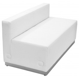 Hercules Alon Series White Leather Loveseat