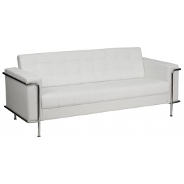 Hercules Lesley Series White Leather Sofa