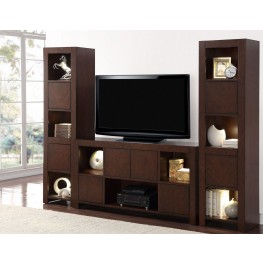 City Lights Brown Entertainment Wall