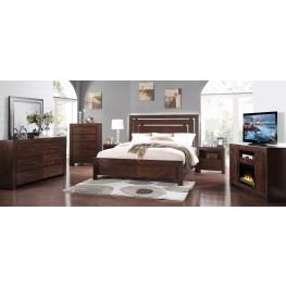 City Lights Dark Chocolate Platform Bedroom Set