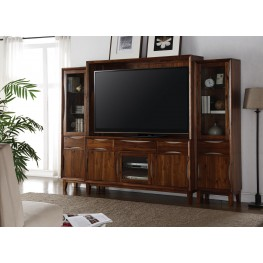 Evo Brown Entertainment Wall Unit